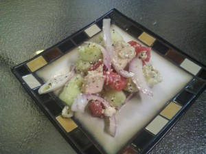tomato cuc salad